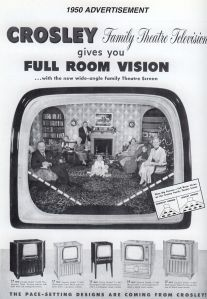 television ad. from the 1950s