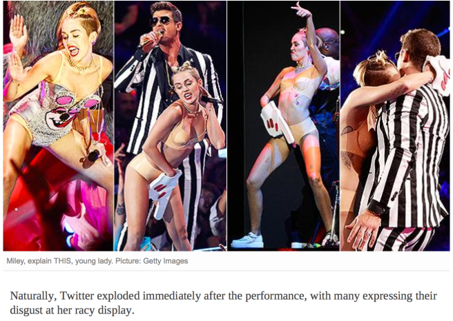 Miley Cyrus at VMA MVA awards